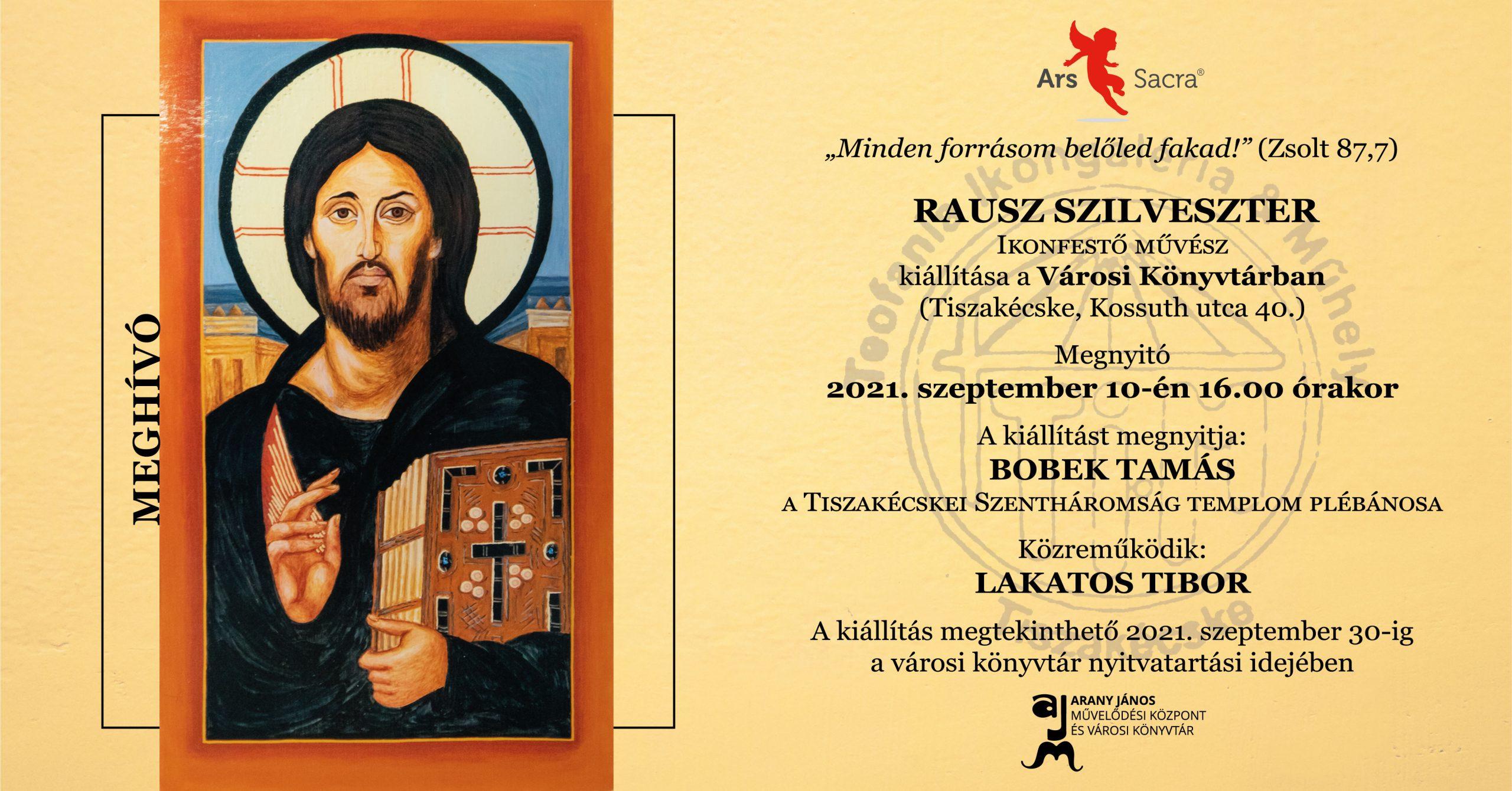 Rausz Szilveszter ikonfestő művész kiállítása a Városi Könyvtárban